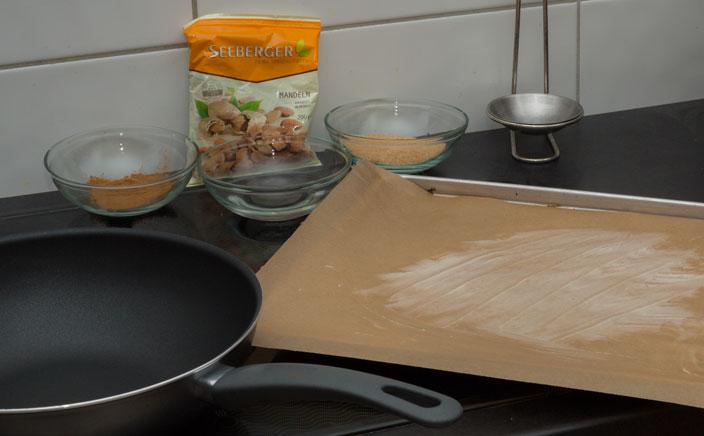 Gebrannte Mandeln selber machen - Zutaten